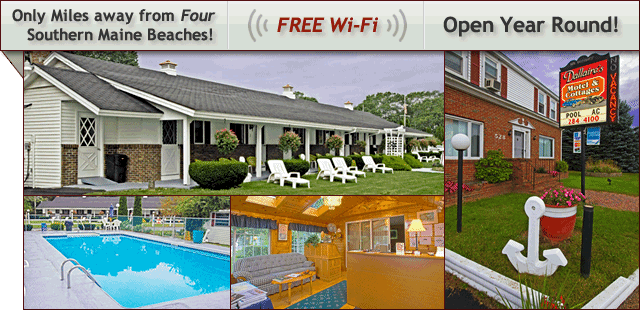 Southern, Coastal Maine Motel and Cottages - Open Year Round - FREE Wi-Fi